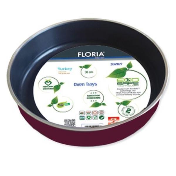 Tava Floria ZLN-2425 aluminiu pentru cuptor model rotund, 38 cm