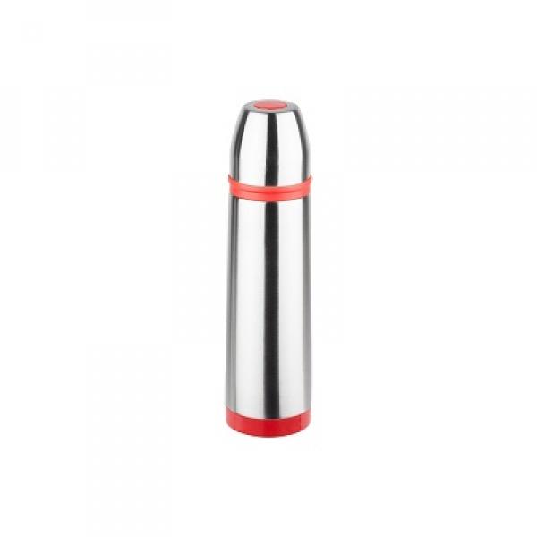 Termos inox 0.5L Floria ZLN-1792,Rosu/Inox Buton de inchidere ermetica antiscurgere,