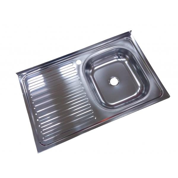 Chiuveta inox 430-04mm, Pentru masca ZLN-6966, cuva dreapta+sifon scurgere cu ventil
