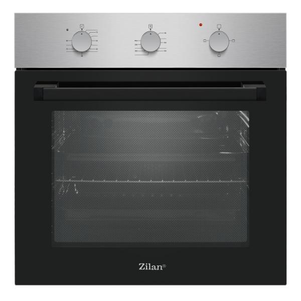 Cuptor incorporabil Zilan ZLN-0065, Electric, 2200W, Timer 90 min, 70 l, Clasa A, Inox