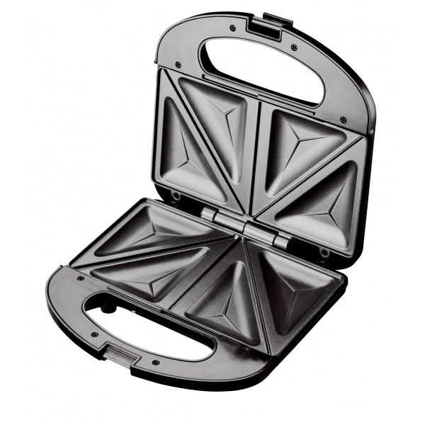 Sandwich-maker Floria ZLN-4304, Negru, 750 W, Placi antiaderente model triunghi