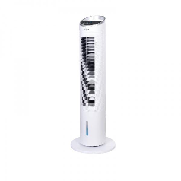 Ventilator tip turn, Zilan ZLN-1010, 60W, conectare WIFI, Functie oscilatie, 3 trepte de viteza, Inaltime 100 cm, Alb