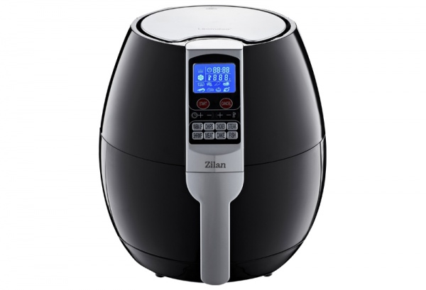 Friteuza Air Fryer Digital ZILAN ZLN-3604, Negru 1500 W, Capacitate 3.5 l, Timer 30 min,