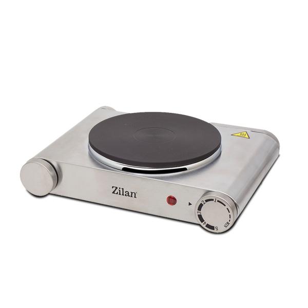 Plita electrica inox Zilan ZLN-0535, 1 arzator, 1500 W, termostat reglabil