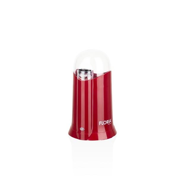 Rasnita Electrica Floria ZLN-3086  Rosu Putere 200W, Capacitate 60 gr, Cuva otel inoxidabil,