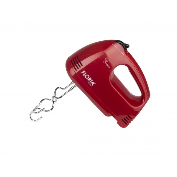 Mixer de mana Floria ZLN-7567, rosu Putere 100 W, 7 viteze, Buton eliberare accesorii,