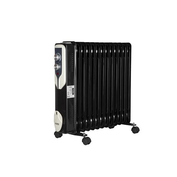 Calorifer electric Floria ZLN-3673,Negru 2500 W, 13 elementi, 3 trepte de putere, Termostat reglabil, Protectie supra-incalzire, Indicator luminos,