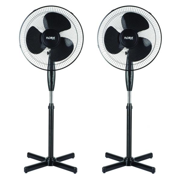 Set 2 bucati Ventilator ZLN-3262, Putere 40W, Diametru 40 cm, Negru
