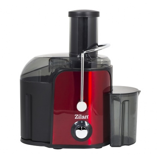 Storcator legume fructe ZILAN ZLN-7979,Rosu Putere 800 W, Recipient colectare pulpa 1.6L, Pahar gradat colectare suc 0.75L, Tub de alimentare 75 mm, Sistem antipicurare,