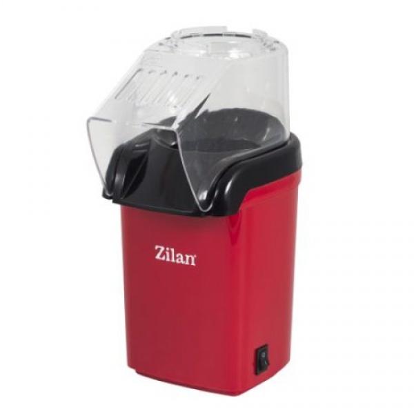 Aparat Pentru Popcorn Zilan ZLN-8044, Putere 1200W, sistem cu jet de aer cald, Rosu