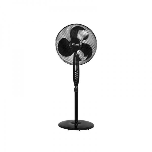 Ventilator cu picior FLORIA ZLN-2324, Negru Putere 40W, Diametru 40 cm, 3 trepte de viteza, Unghi inclinare reglabil,