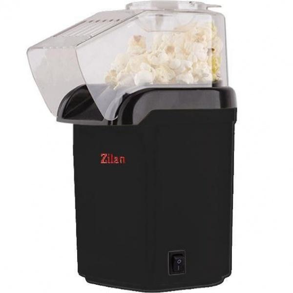 Aparat Pentru Popcorn Zilan ZLN-8044, Putere 1200W, sistem cu jet de aer cald,Negru