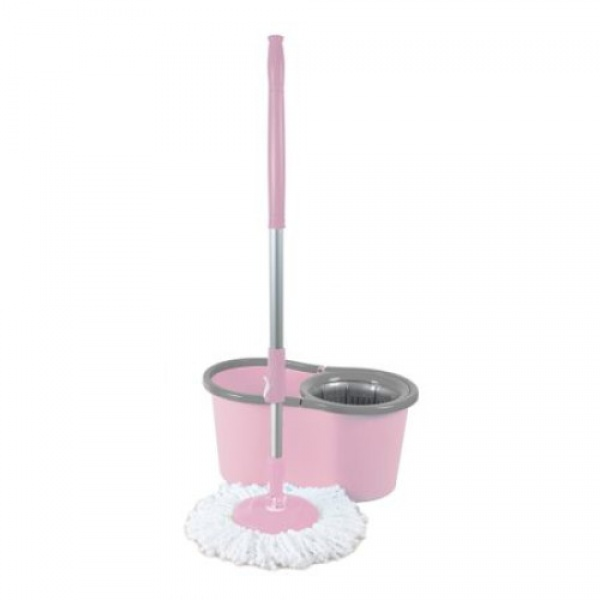 Galeata magic mop LISA ZLN-1389, Mop rotativ 360 grade, Capacitate galeata 12L,Roz