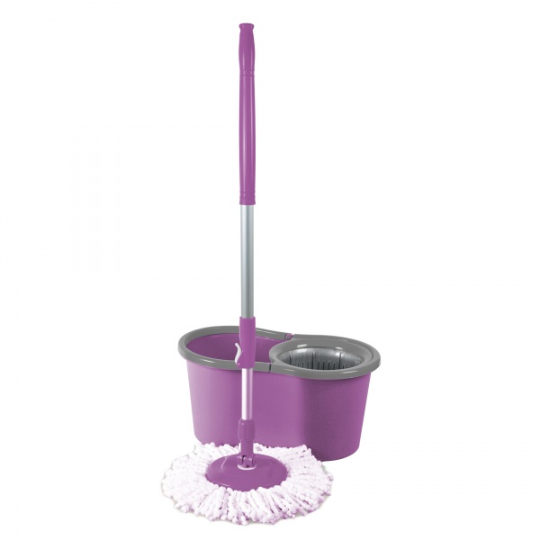Galeata magic mop LISA ZLN-1389, Mop rotativ 360 grade, Capacitate galeata 12L, Mov