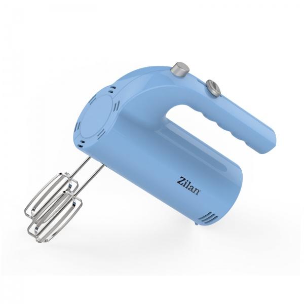 Mixer de mana ZILAN ZLN-3161, Putere 200 W, 5 viteze, Bleu