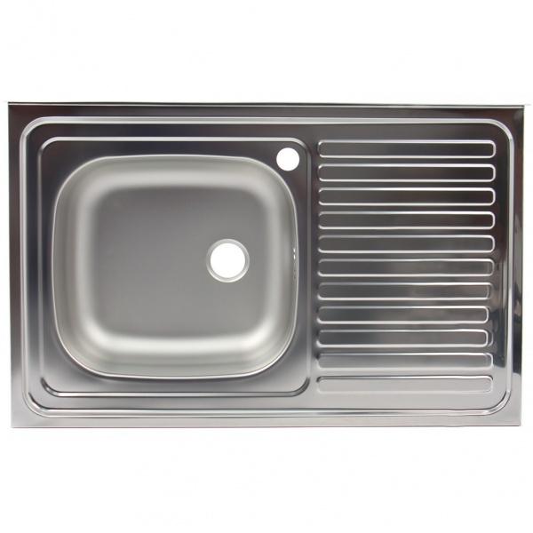 Chiuveta pentru masca+racord flexibil scurgere Z-INOX ZLN-9195ST, Inox anticalcar, Cuva stanga, 50x80 cm