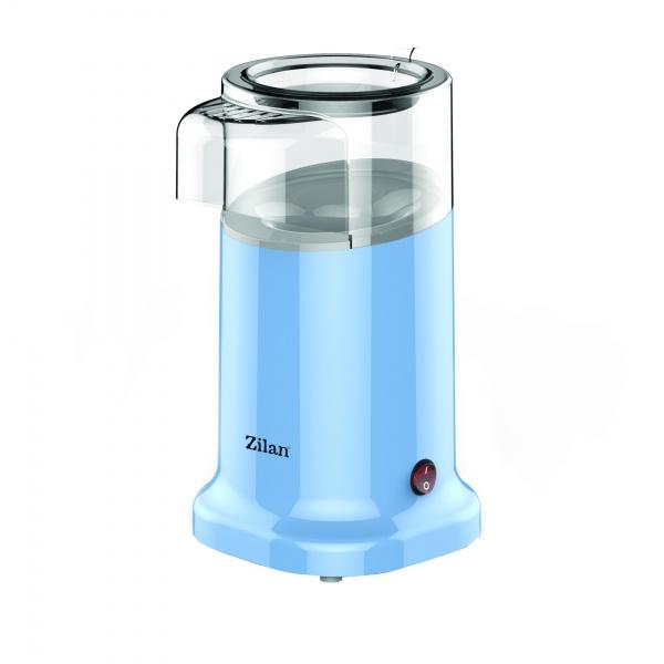 Aparat Pentru Popcorn Zilan ZLN-3147, Putere 1200W, sistem cu jet de aer cald, Bleu