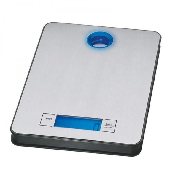 Cantar inox pentru bucatarie Zilan ZLN-0351, maxim 5 kg, afisaj digital luminat