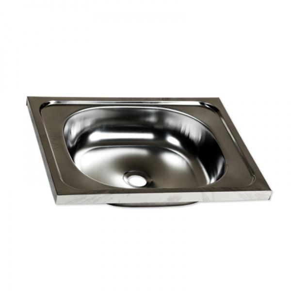 Chiuveta inox o cuva pentru masca+racord flexibil scurgere, 40x50 cm. Z-Inox, ZLN-0148+ZLN-2968