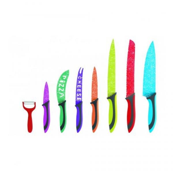 Set cutite inox 8 piese Floria ZLN-1143, Multicolor