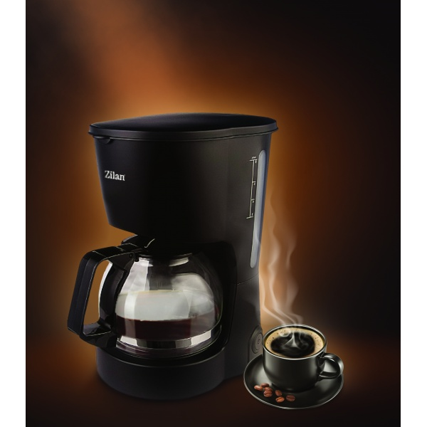 Filtru Cafea ZILAN, Putere 600W, Capacitate cana 0.6 L, plita pentru pastrarea calda a cafelei