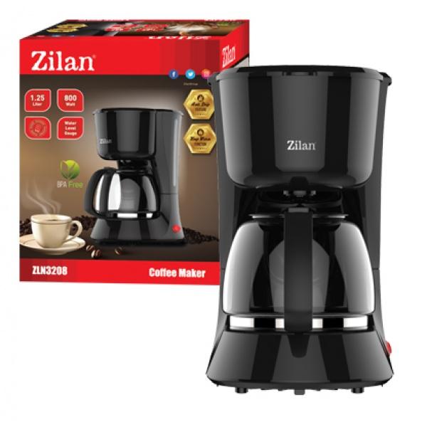 Filtru Cafea ZILAN,Putere 800W, 1.25 L, plita pentru pastrarea calda a cafelei